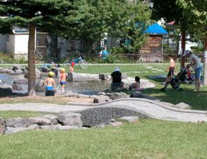 東二条公園 徒歩池