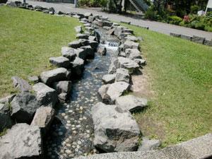 東二条公園 徒歩池水路