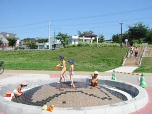 上野幌西公園 噴水・水遊び