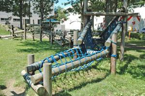 若葉公園 木製アスレチック